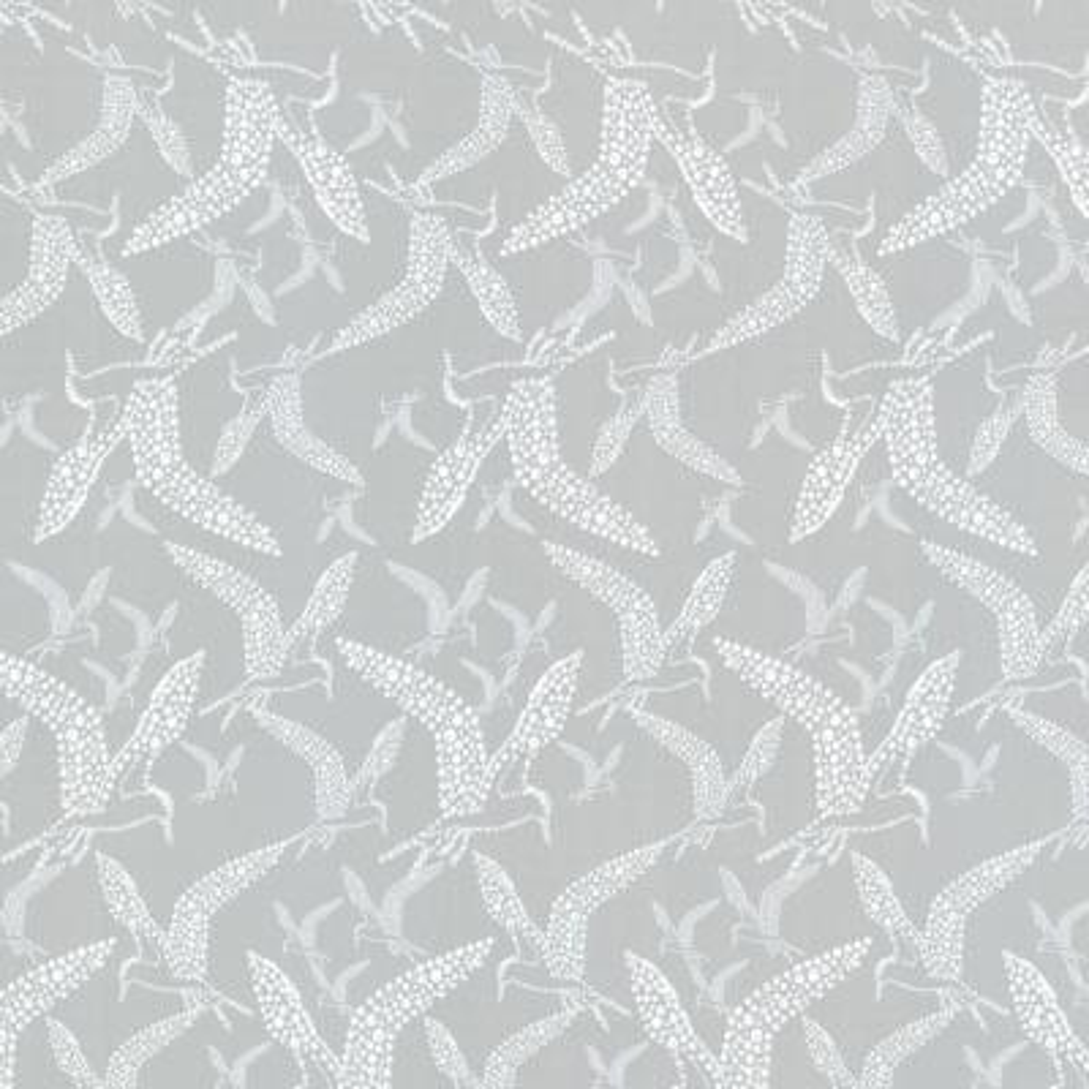 Lari Grey Bird Wallpaper Sample