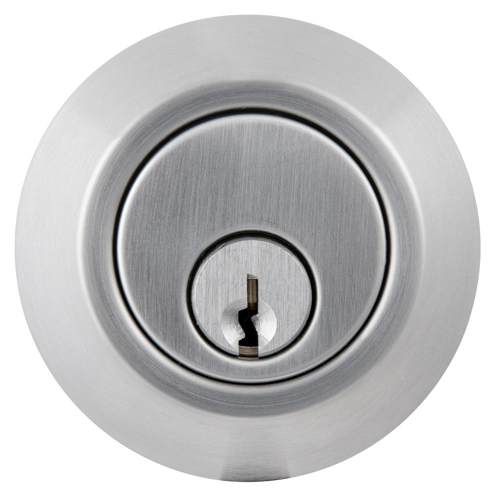 Universal Hardware Commercial 2-3/4 in. Double Cylinder Satin Chrome Heavy-Duty Industrial Deadbolt