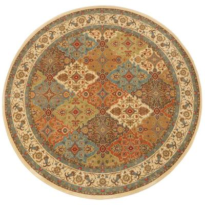 Persia Almond Buff 8 ft. x 8 ft. Round Indoor Area Rug