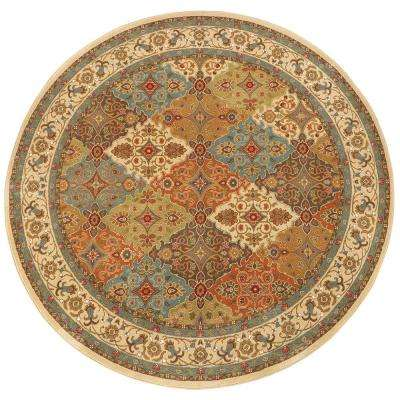Persia Almond Buff 8 ft. x 8 ft. Round Area Rug