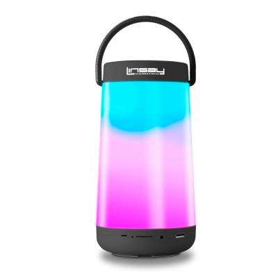 LED Light Party Show Indoor/Outdoor Bluetooth Speaker in Black