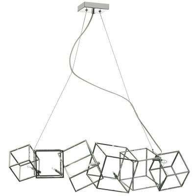 Cubo 6-Light Polished Chrome Chandelier