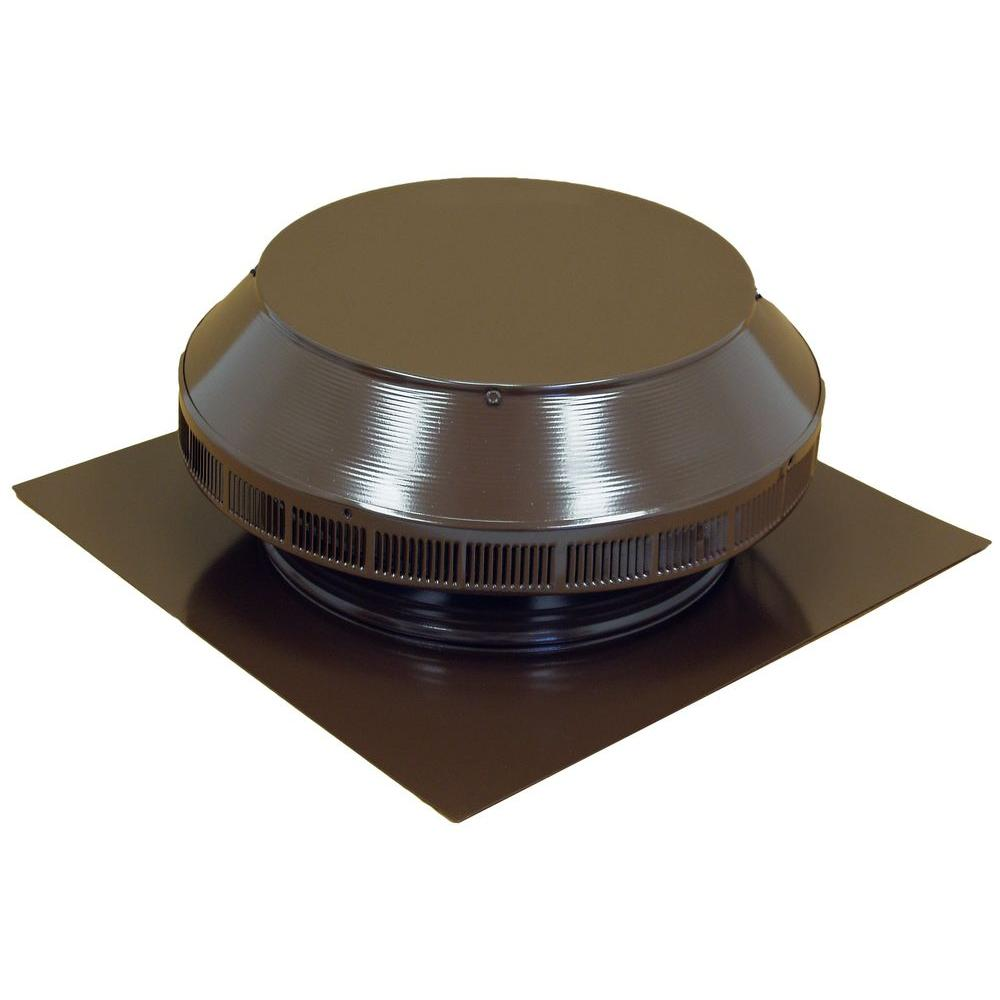 12 in. Dia Aluminum Roof Louver Exhaust Vent in Brown Powder
