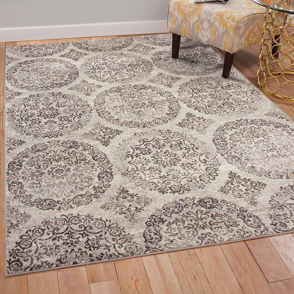 Sonoma Ana Silver Charcoal 5 ft. 3 in. x 7 ft.
