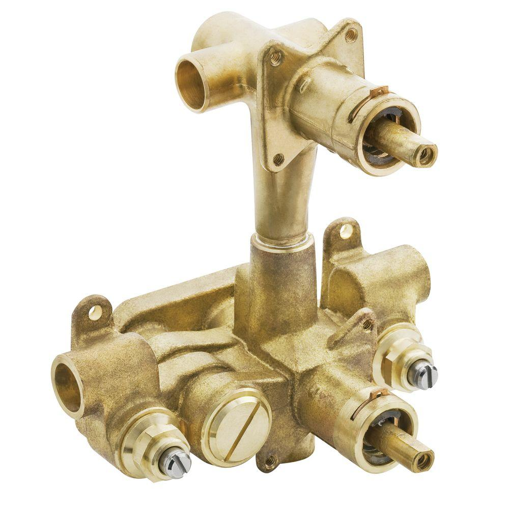 null Moentrol Pressure-Balancing Volume-Control 3-Function Transfer Shower Valve with Stops - 1/2 in. CC Connection