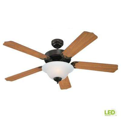 Quality Max Plus 52 in. LED Heirloom Bronze Indoor Ceiling Fan