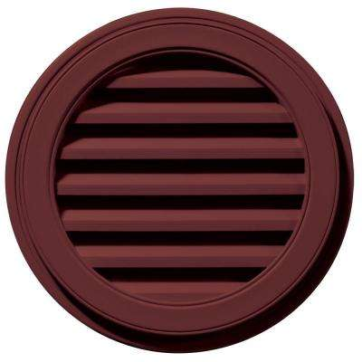 22 in. Round Gable Vent in Wineberry