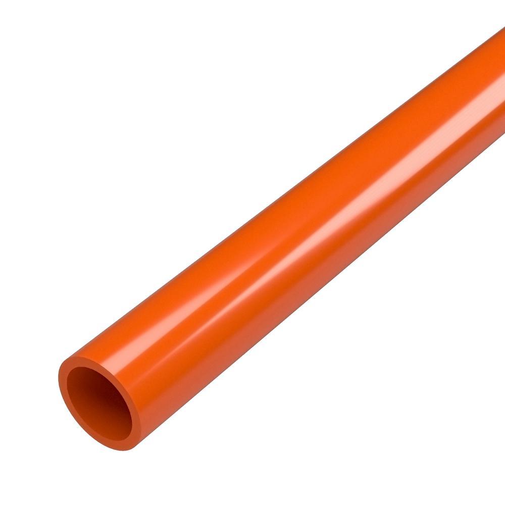 3/4 in. x 5 ft. Furniture Grade Sch. 40 PVC Pipe in Orange