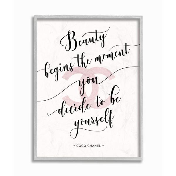 Stupell Industries 16 In X 20 In Beauty Begins Fashion Designer Pink Inspirational Word Design By Ziwei Li Ygg 149 Gff 16x20 The Home Depot
