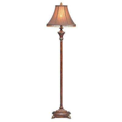 63 in. Resemble Wooden Color Floor Lamp