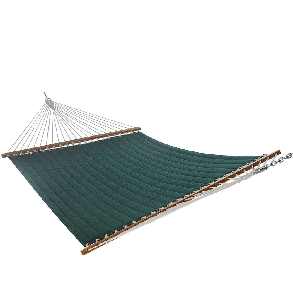 Sunbrella Heather Green Solid Quilted Hammock-DISCONTINUED