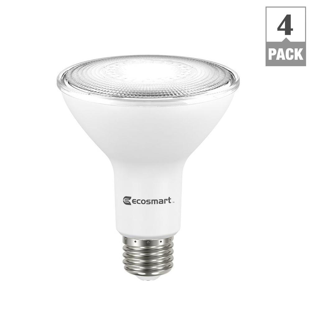 ecosmart 75 watt equivalent par30 dimmable led flood light bulb daylight 4 pack. Black Bedroom Furniture Sets. Home Design Ideas