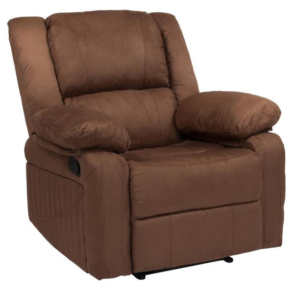 Flash Furniture Chocolate Brown Microfiber Recliner CGA-BT-231308-CH-HD