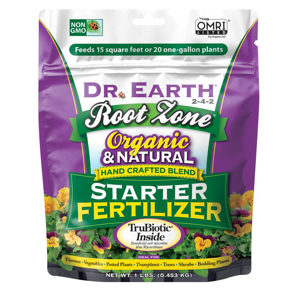 DR. EARTH 1 lb. 13 sq. ft. Organic Root Zone Starter Dry Fertilizer