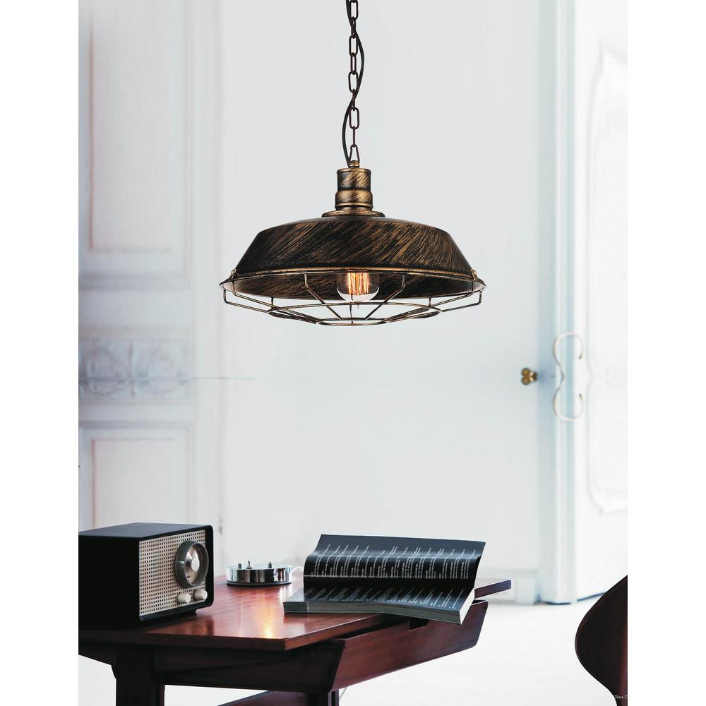 Morgan 1-Light Antique Copper Chandelier - Morgan 1-Light Antique Copper Chandelier-9611P18-1-128 - The Home Depot