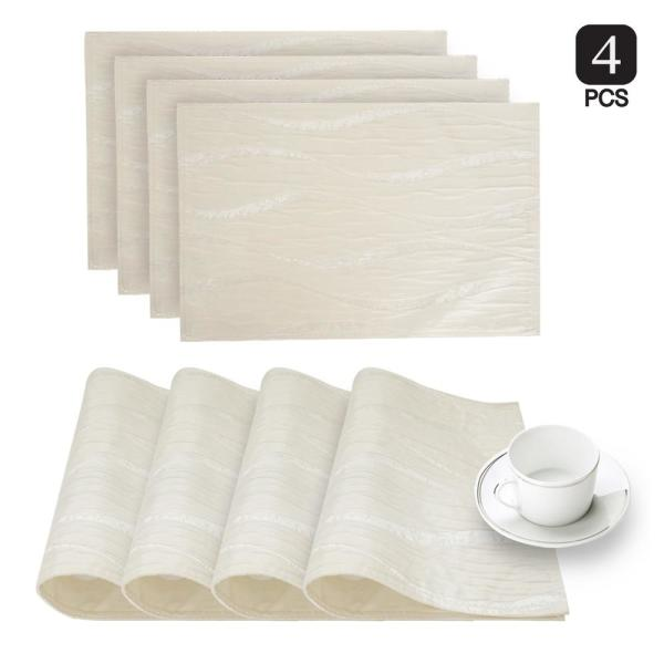 Dainty Home Morocco Ivory Printed Fabric Placemat (Set of 4) MOR4PMIV