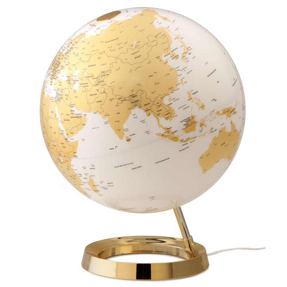 Light and Color 12 in. Gold Designer Series Desktop Globe