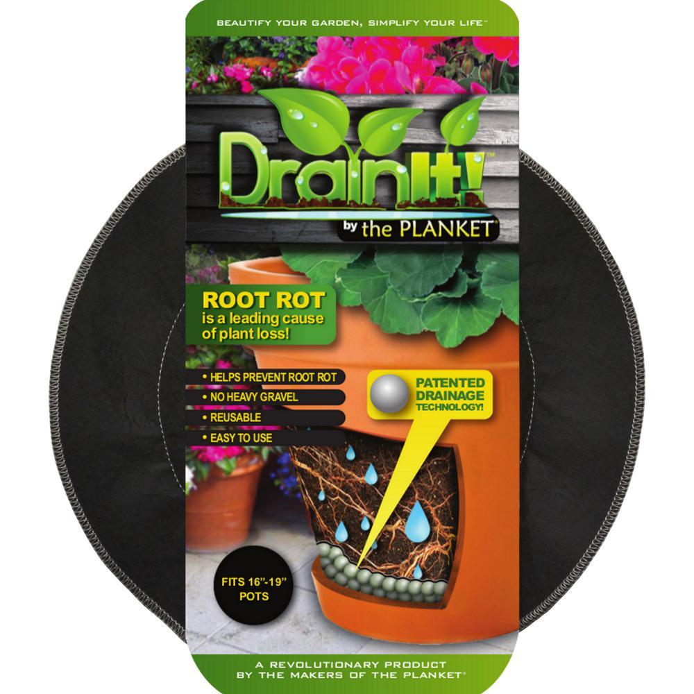 16 in. - 19 in. pot easy-flow drain disc