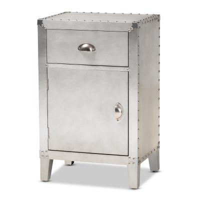 Romain Silver Storage Cabinet with 1-Drawer