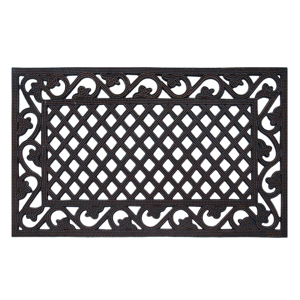 Genial A1HC First Impression Artistic Border 18 In. X 30 In. Indoor/Outdoor Rubber