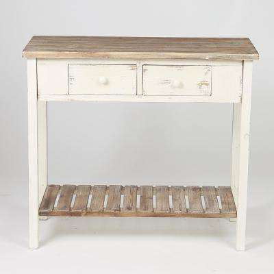 Vintage Natural 2-Drawer Console Table
