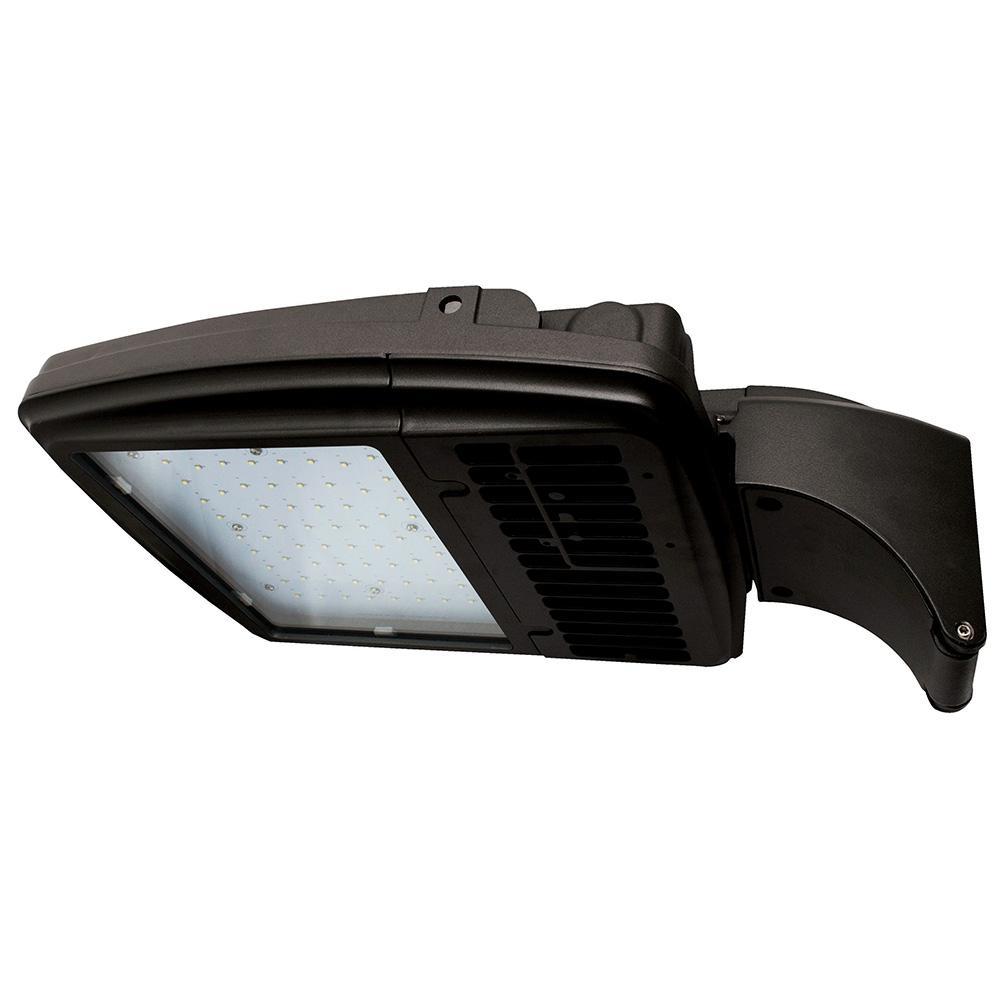 112-Watt Bronze Integrated LED Outdoor Area Light, Type V, 5000K CCT,