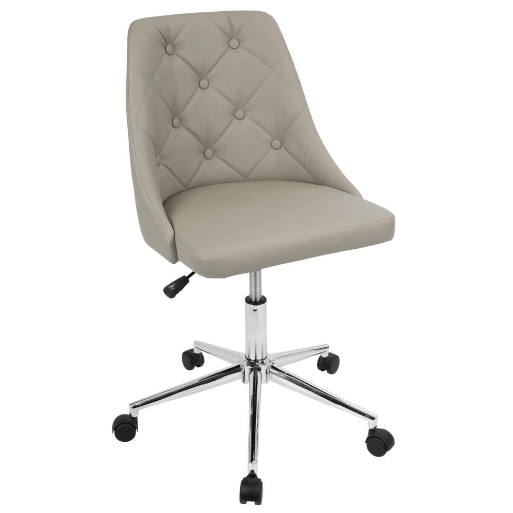 ofc office furniture. Lumisource Marche Button-Tufted Light Grey Faux Leather Office Chair Ofc Furniture