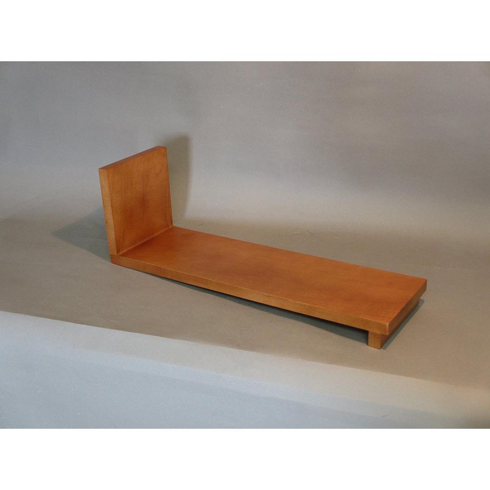 20 inch x 6 inch Honey Slant Book Rack by