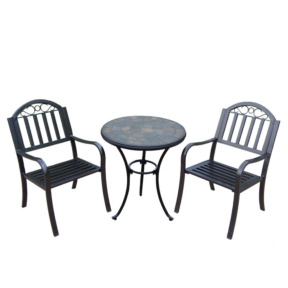 Rochester 3-Piece Metal Outdoor Bistro Set