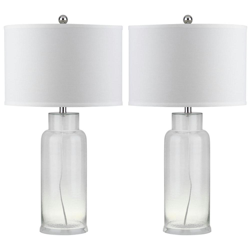 Charmant Clear Glass Table Lamp (Set Of 2)