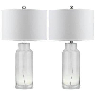 Bottle 29 in. Clear Glass Table Lamp (Set of 2)