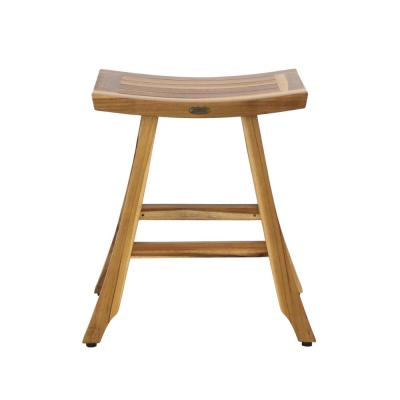 Satori 24 in. H Natural Teak Counter Stool