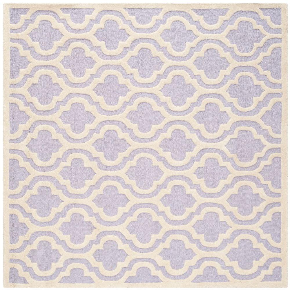 Safavieh Cambridge Lavender/Ivory 6 ft. x 6 ft. Square Area Rug