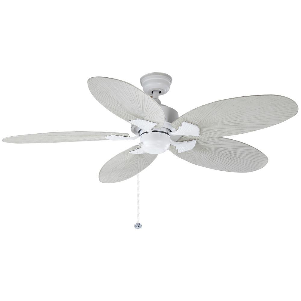 Lillycrest 52 in. Indoor/Outdoor Matte White Ceiling Fan