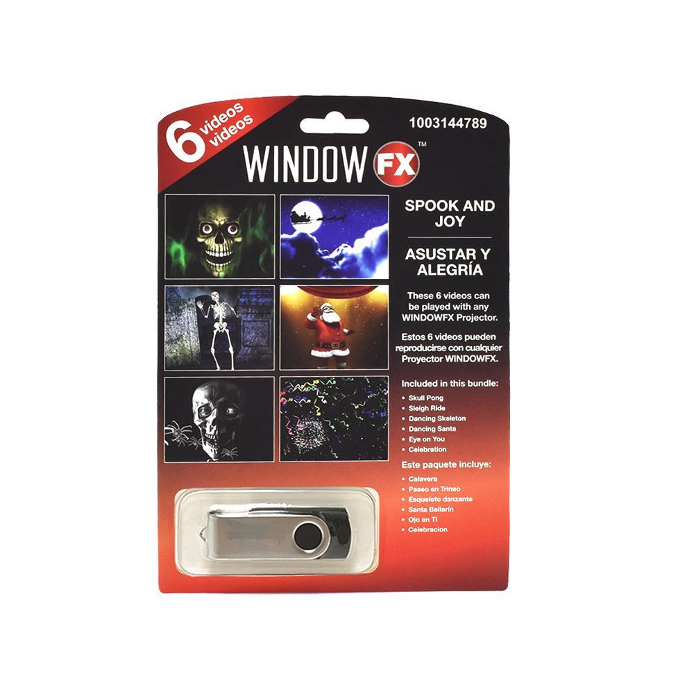 window fx halloween video 6pc pdq