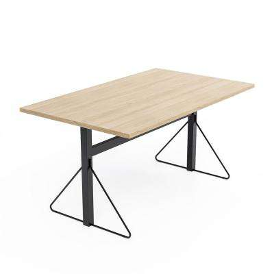 Carnegie Black and Natural Benching Desk Table