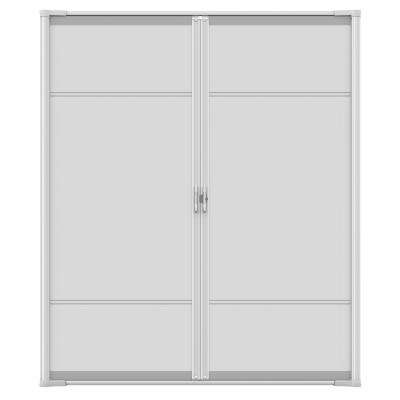 72 in. x 80 in. Brisa White Standard Height Double Door Kit Retractable Screen Door