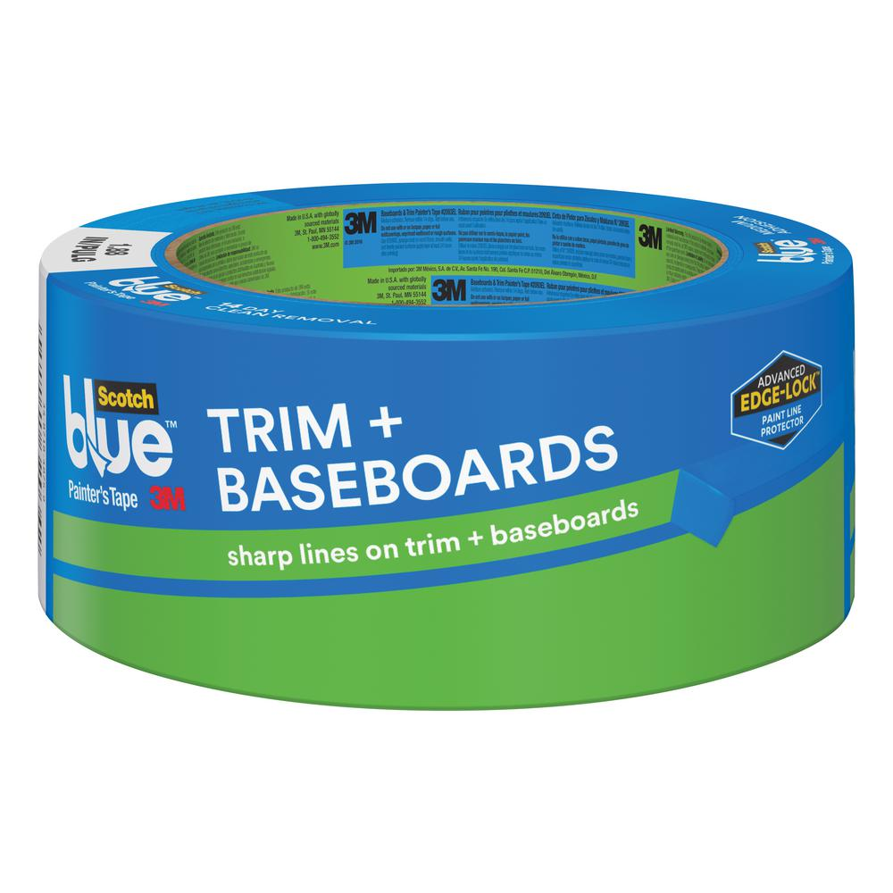 trim and baseboards painters tape with edge - Blue Painters Tape
