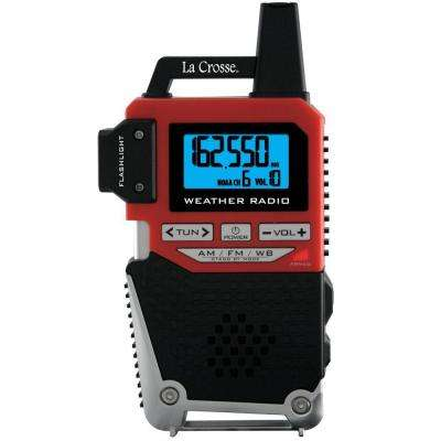 NOAA Weather Alert Handheld Radio with Flashlight