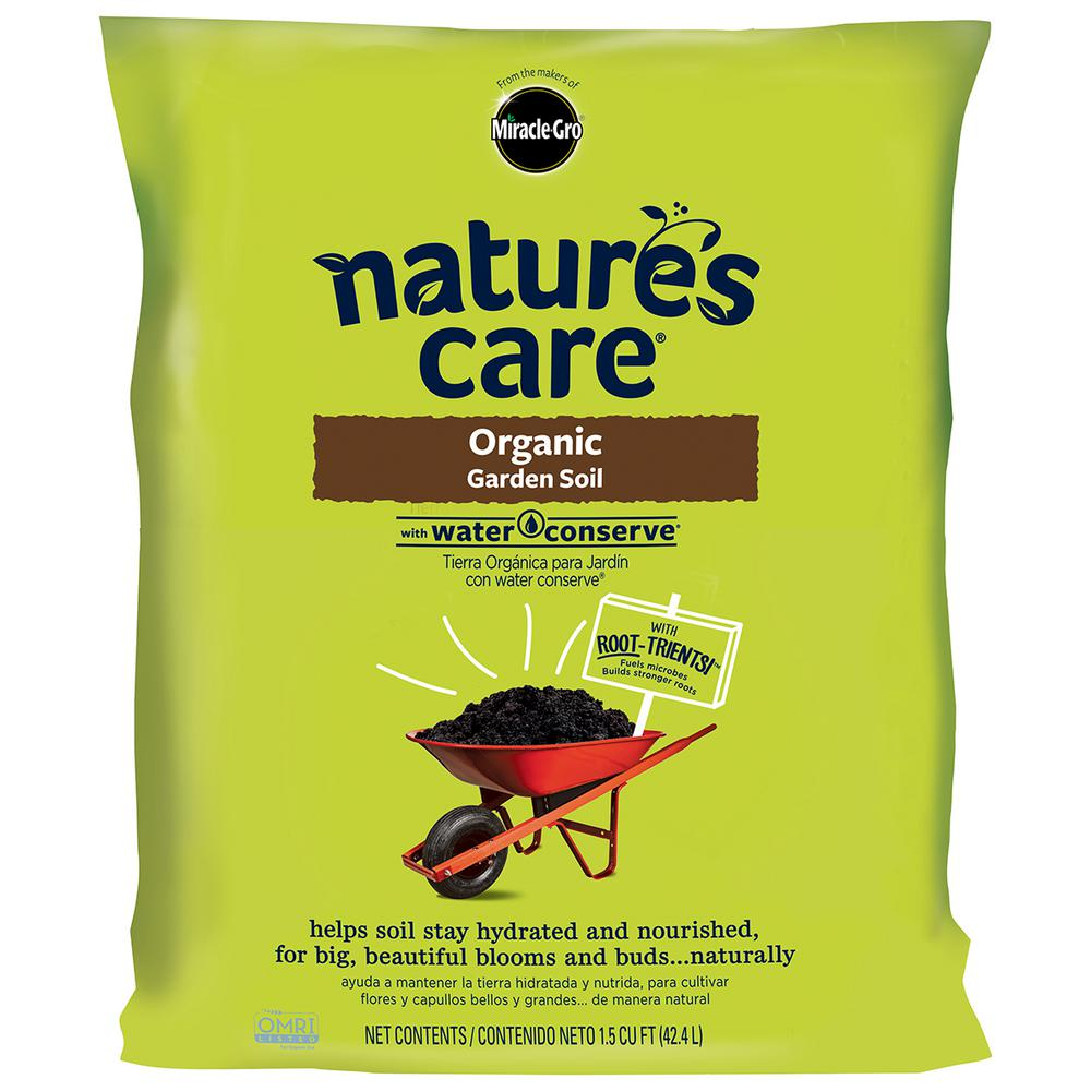 miracle gro natures care 15 cu ft organic garden soil - Miracle Gro Garden Soil