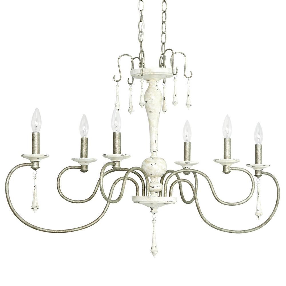 Progress lighting annecy collection 6 light antique distressed ivory progress lighting annecy collection 6 light antique distressed ivory island chandelier with gilded pewter accents arubaitofo Choice Image