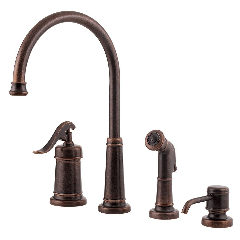 Kitchen Faucets Bronze: Pfister Ashfield Single-Handle Side Sprayer Kitchen Faucet