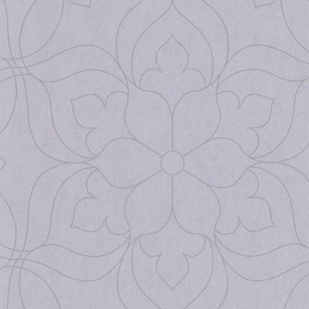 Charlotte Lavender Modern Floral Wallpaper