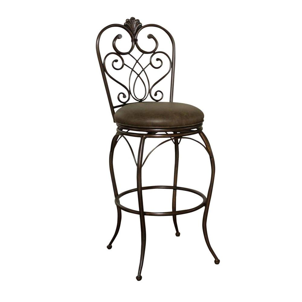 American Heritage Solace 26 in. Counter Stool in Clay