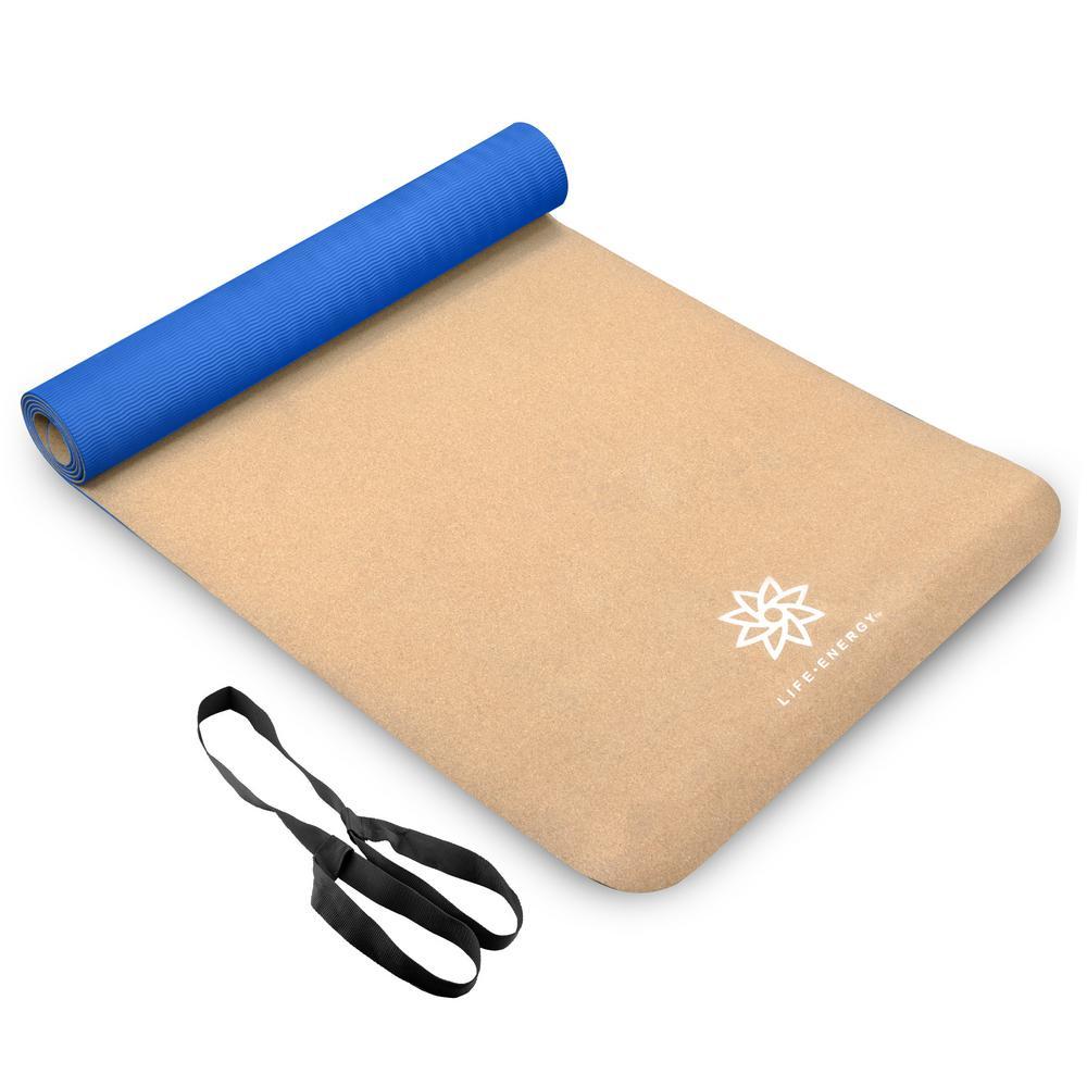 EkoSmart Cork Yoga Mat with Yoga Strap