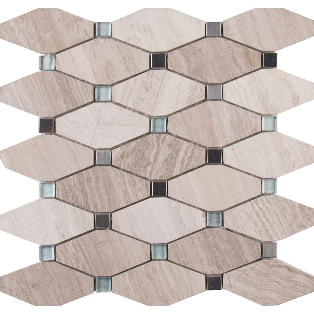 Bayview Elongated Octagon 12 in. x 12 in. x 10 mm