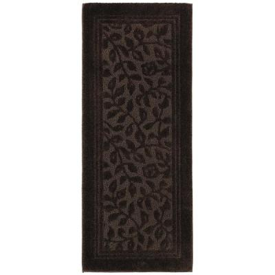 Wellington 24 in. x 60 in. Nylon Bath Runner in Chocolate