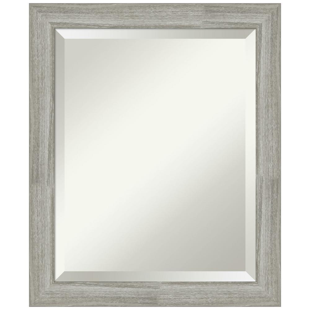 19.5 in. x 23.5 in. Dove Greywash Narrow Bathroom Vanity Mirror