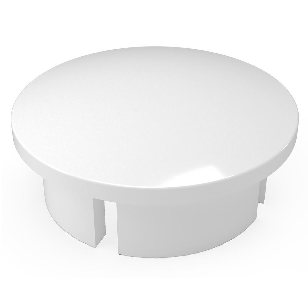 Formufit 3/4 in. Furniture Grade PVC Internal Dome Cap in White (10-Pack)