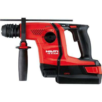 36-Voltt Lithium-Ion 1/2 in. SDS Plus Cordless Rotary Hammer TE 6-A36 Compact with DRS